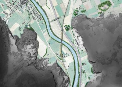 Insertion d'ouvrages le long du Rhône – Massongex
